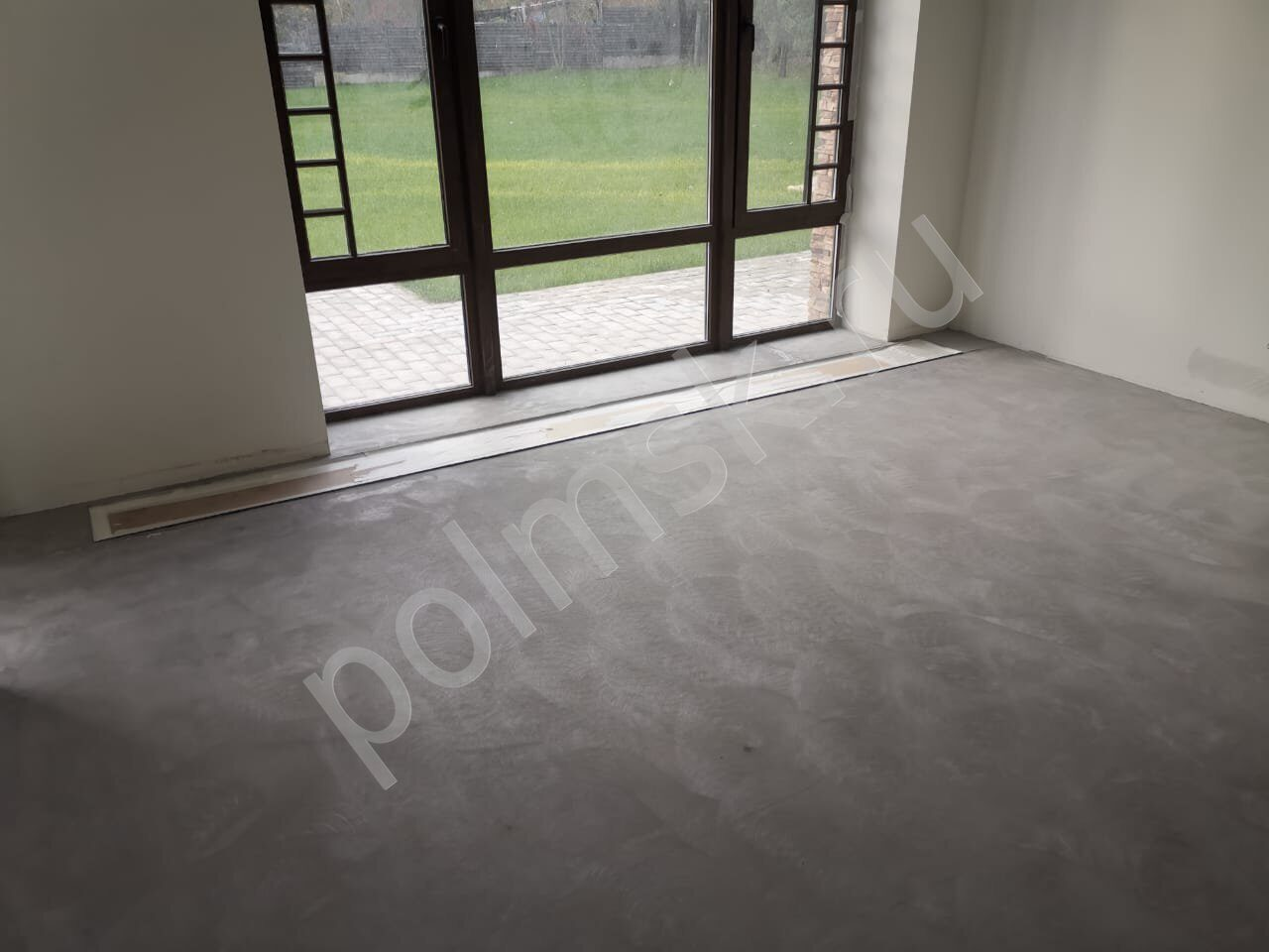 шлифованный бетон пол