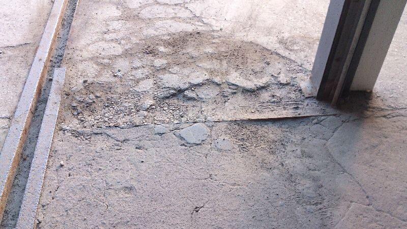 Отслоение бетона кладка бетона